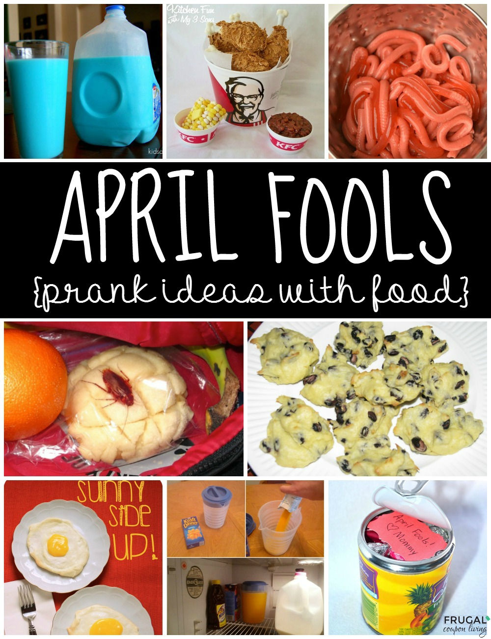 april-fools-pranks-ideas-collage-food-frugal-coupon-living