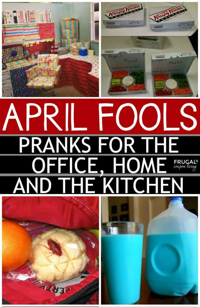 Innocent and Playful April Fools Prank Ideas - Practical Jokes and Clean Pranks for the home, office, and kitchen! #aprilfools #aprilfoolsday #frugalcouponliving #pranks #prankster #jokes #practicaljokes #kids