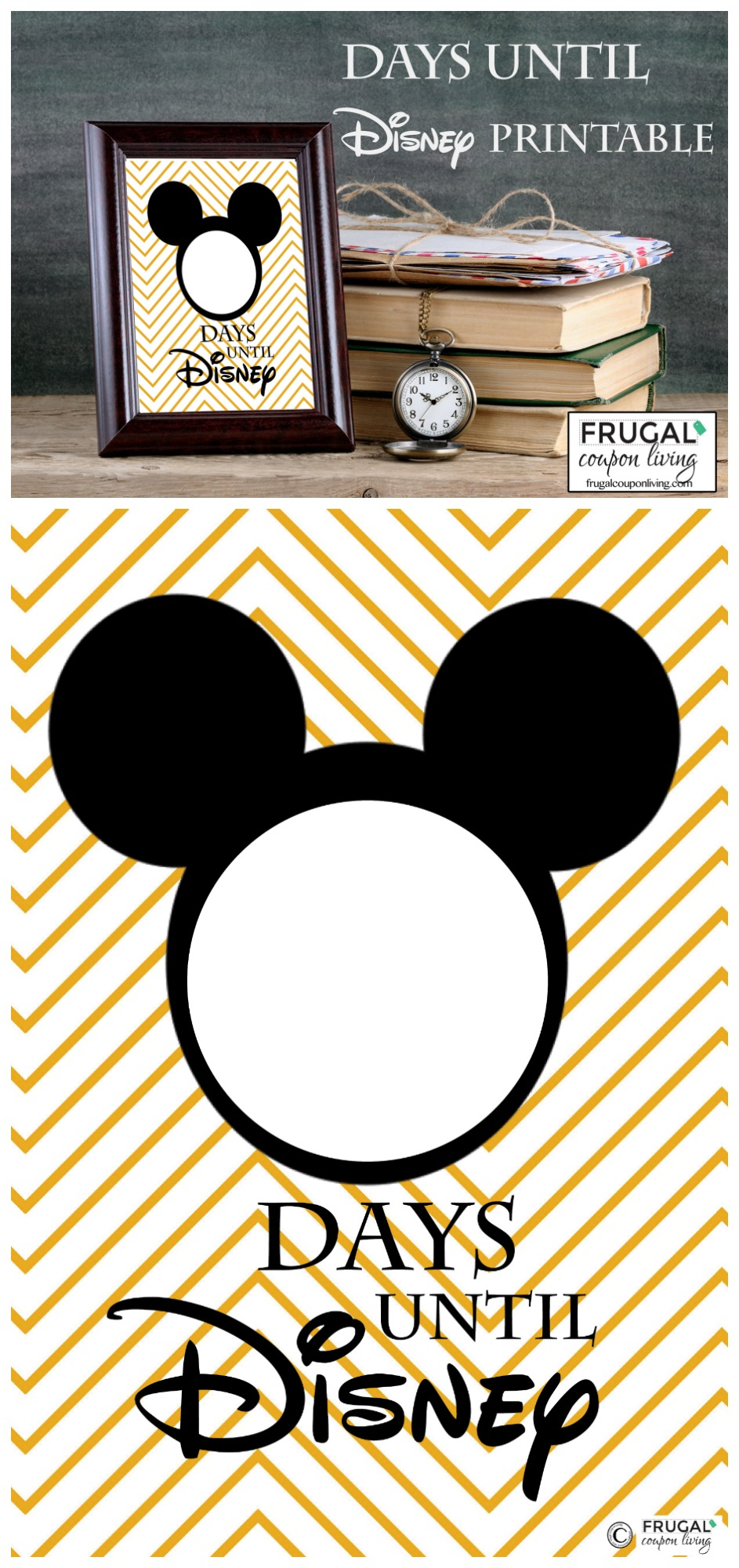 Free Countdown To Disney Printable