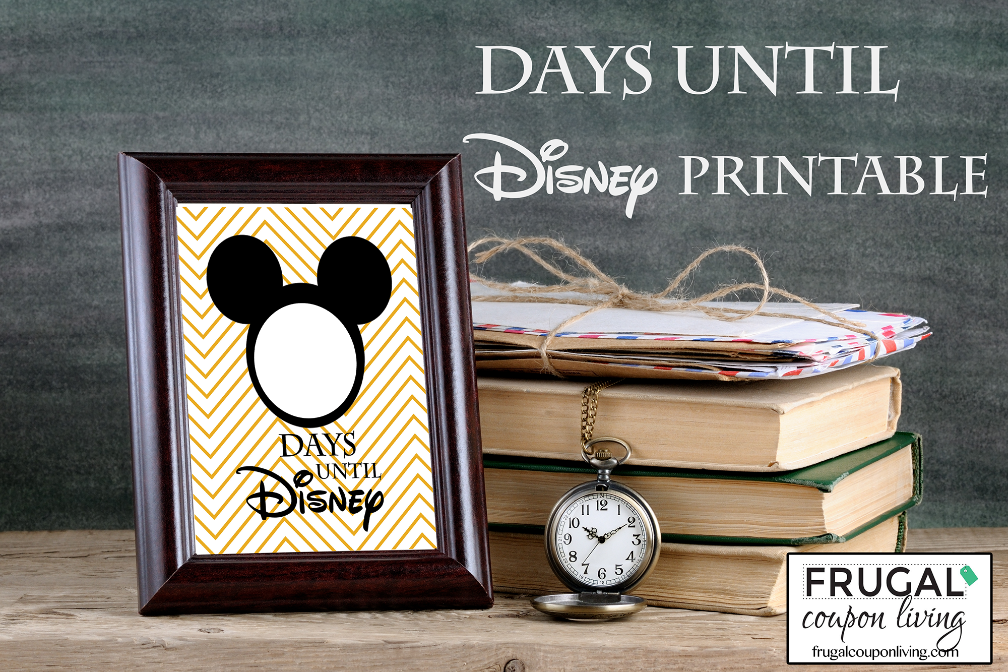photo regarding Disneyland Printable Coupons named Totally free Countdown in direction of Disney Printable