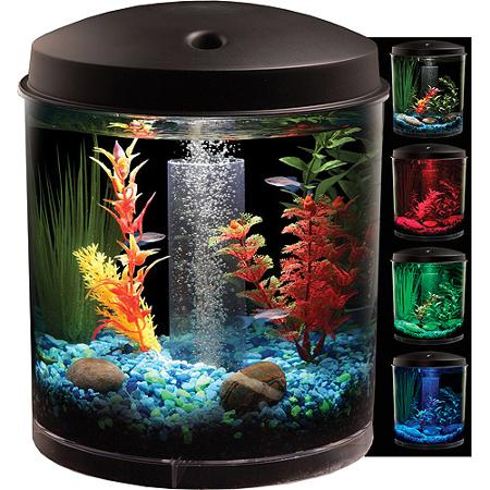 Hawkeye 2 gallon starter aquarium kit only reg for 2 gallon betta fish tank