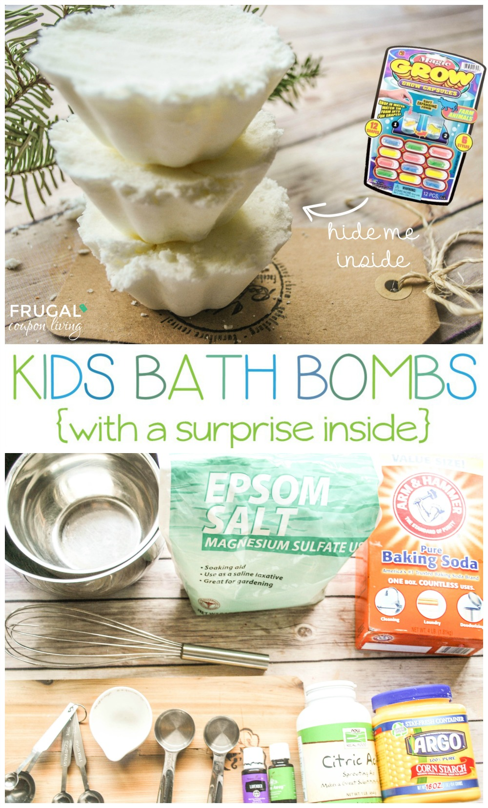 Bath bombs for kids by Frugal coupon living