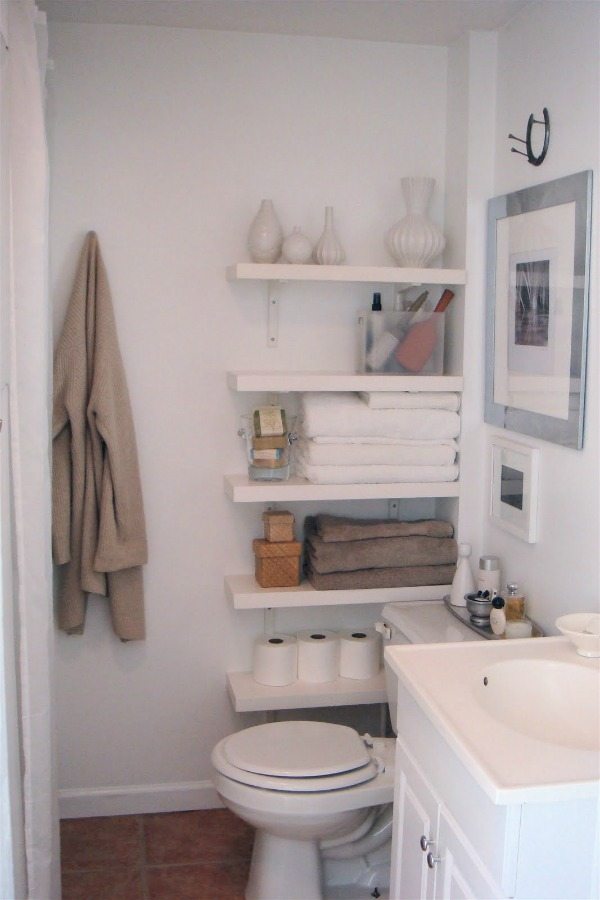 New toilet shelving