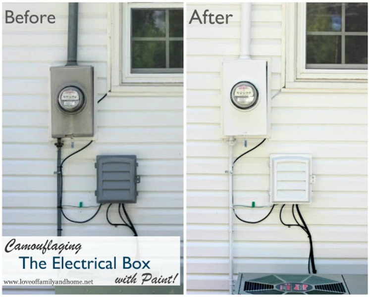 Camouflaging Electrical Box Collage