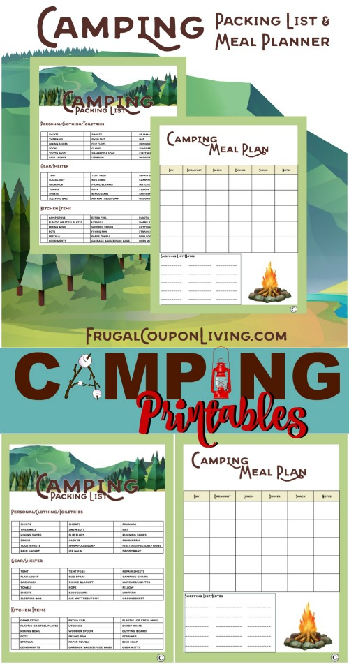 Camping Printables Collage Frugal Coupon Living Post