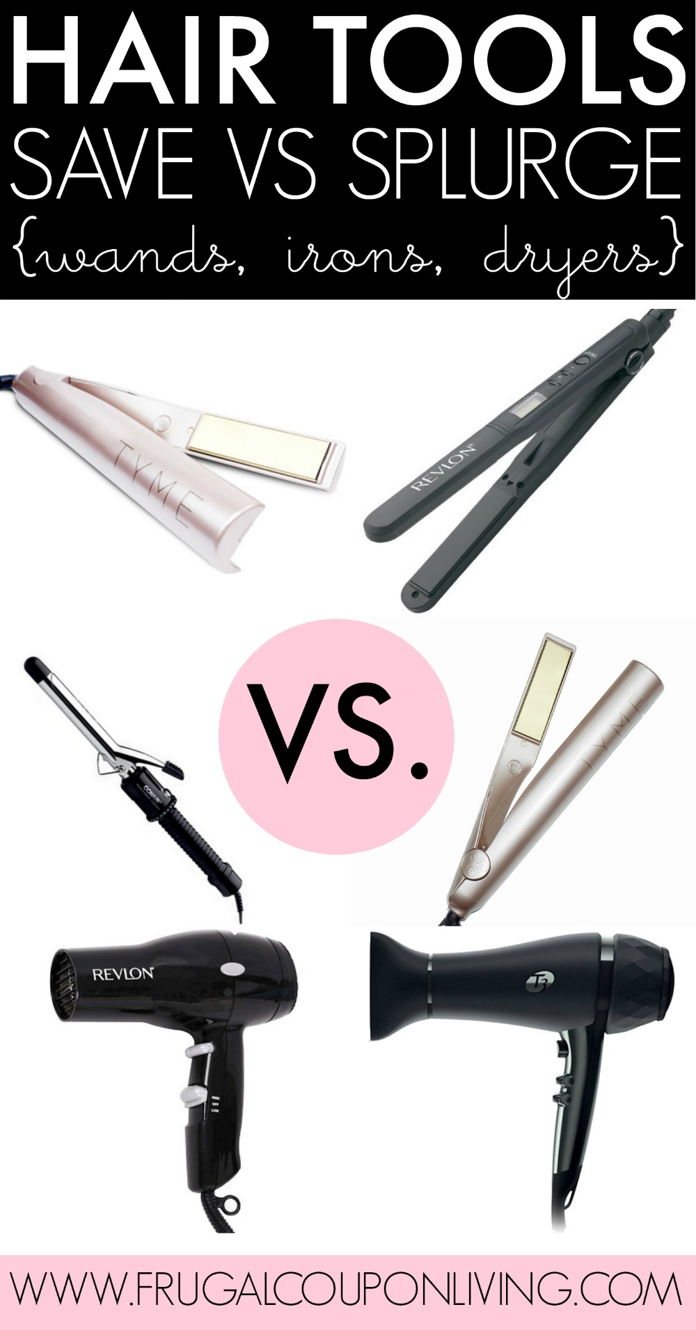 Hair-Tools-Collage-Save-vs-Splurge-frugal-coupon-living