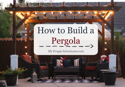 Midsummer night patio ideas for Diy free standing pergola
