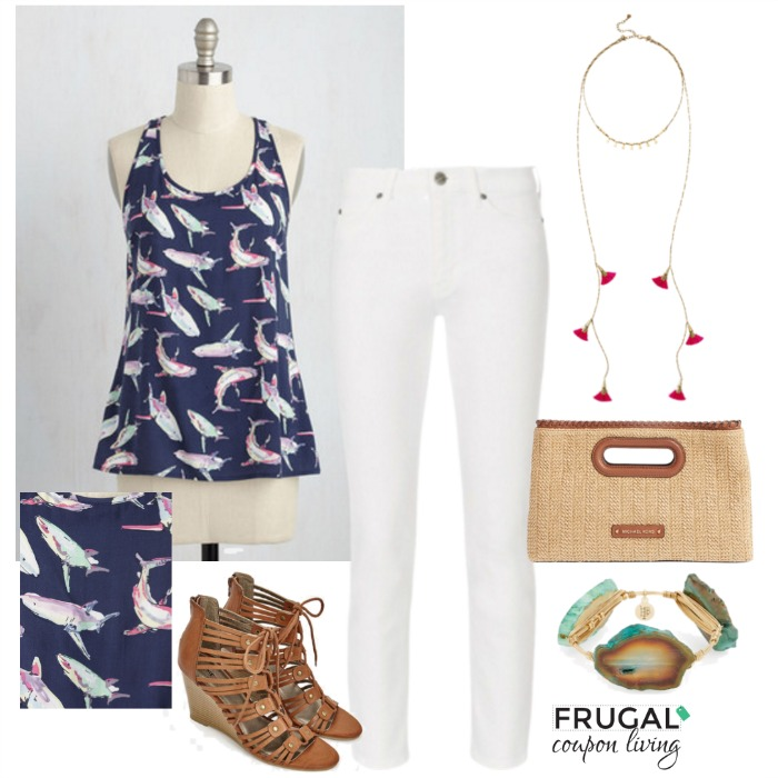 Shark-attack-summer-outfit-frugal-coupon-living-frugal-fashion-friday