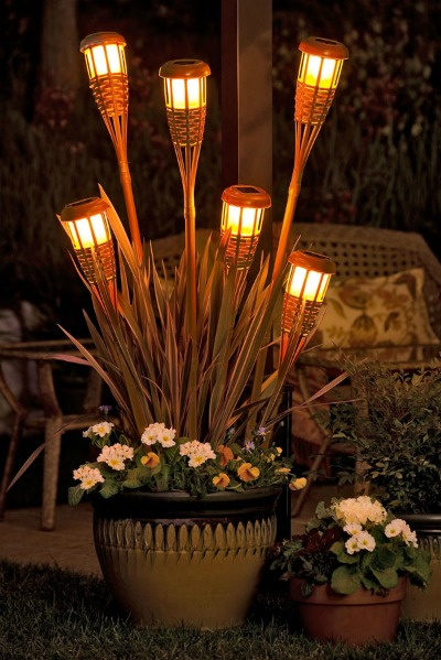 Tiki-torch-planter