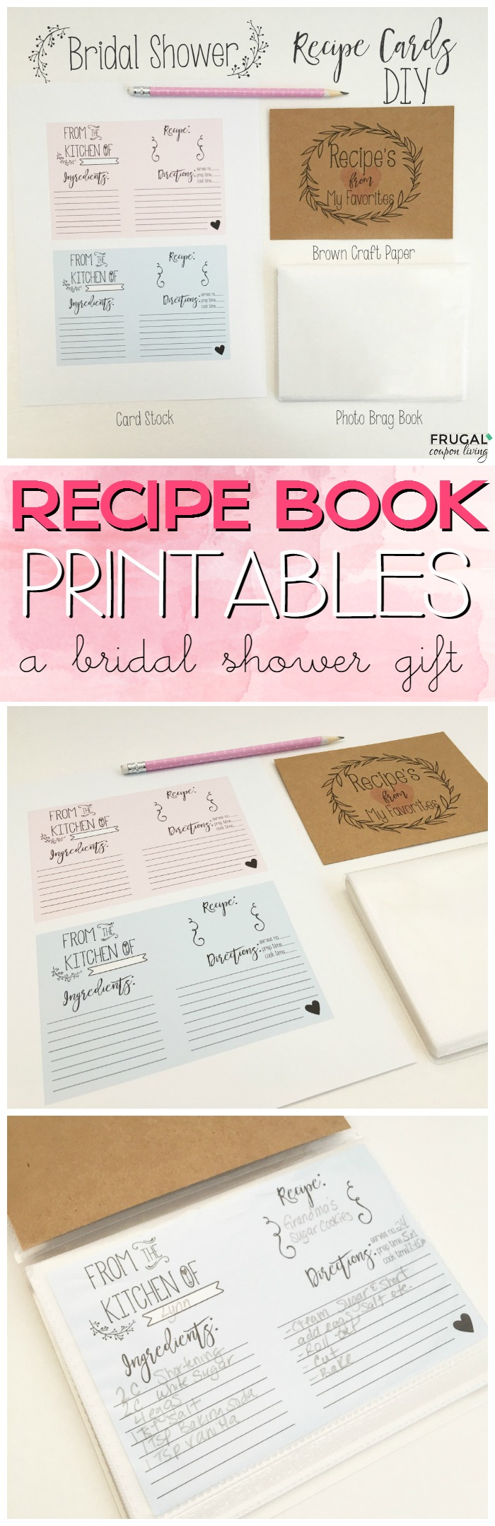 bridal shower recipe book large collage frugal coupon