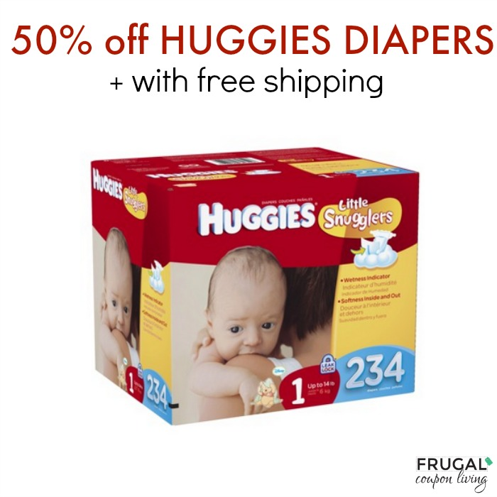 Huggies diapers 50% off