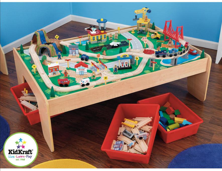 kidkraft-train-table & Upcycled Kidkraft Train (and LEGO) Table