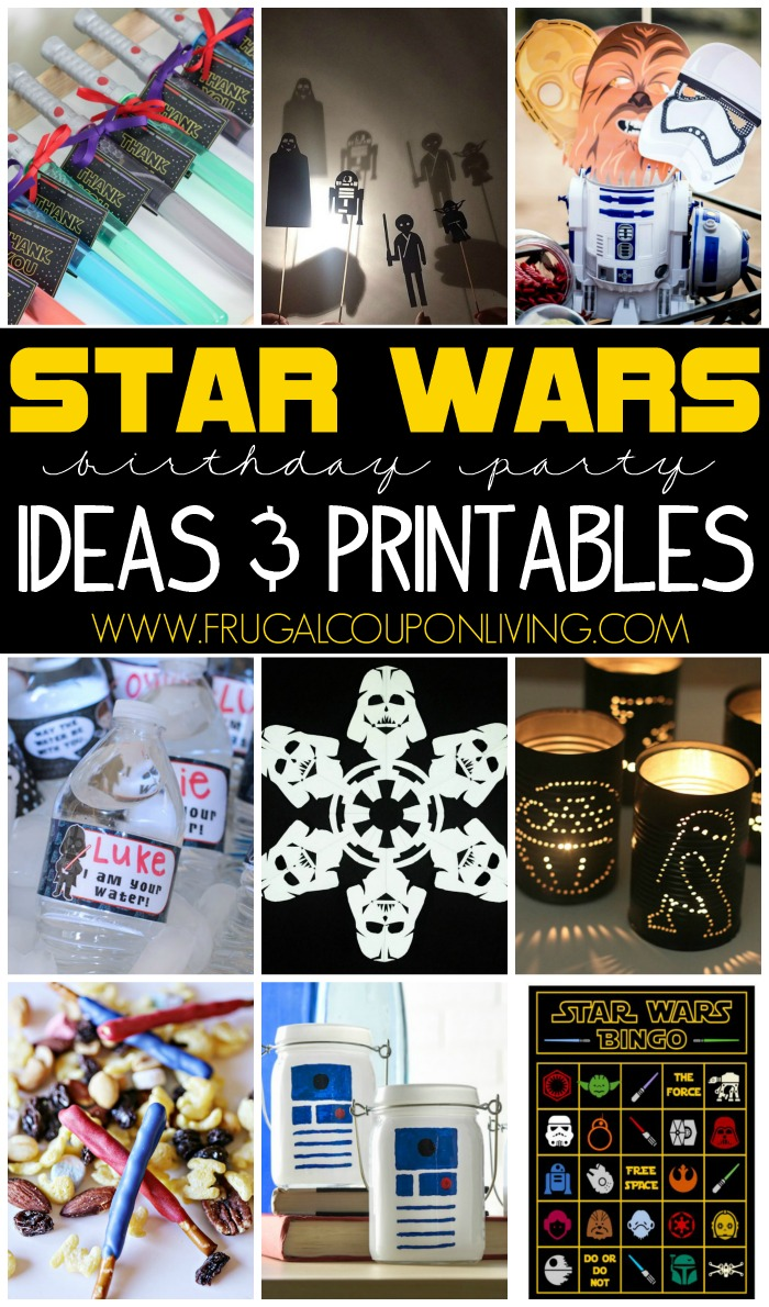 Target Cyber Monday Ads >> Star Wars Party Ideas and FREEBIES