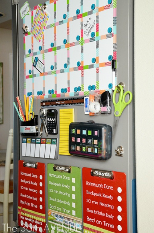 command-center-and-back-to-school-station-36th-Avenue-frridge