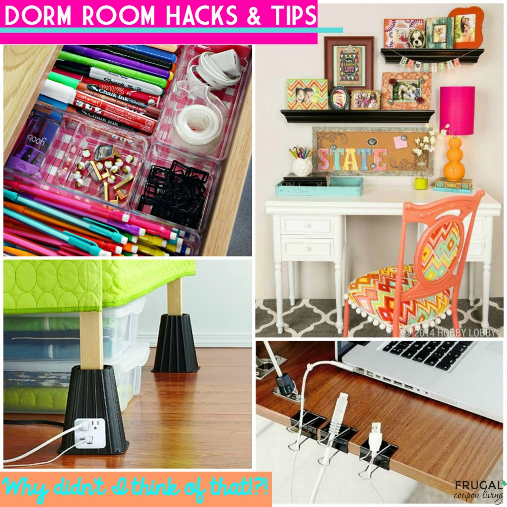 Going to college dorm room hacks and tips for Room decor hacks