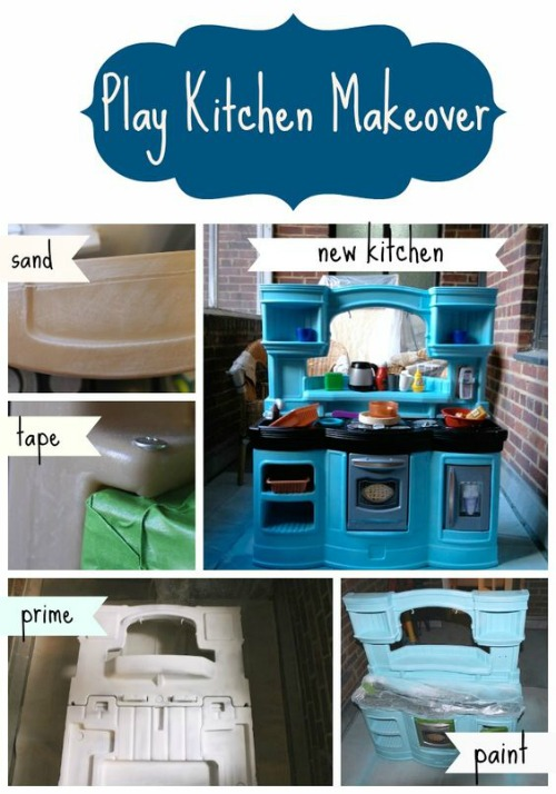 Little tikes and step2 upcycle ideas - Easy steps for a kitchen makeover ...