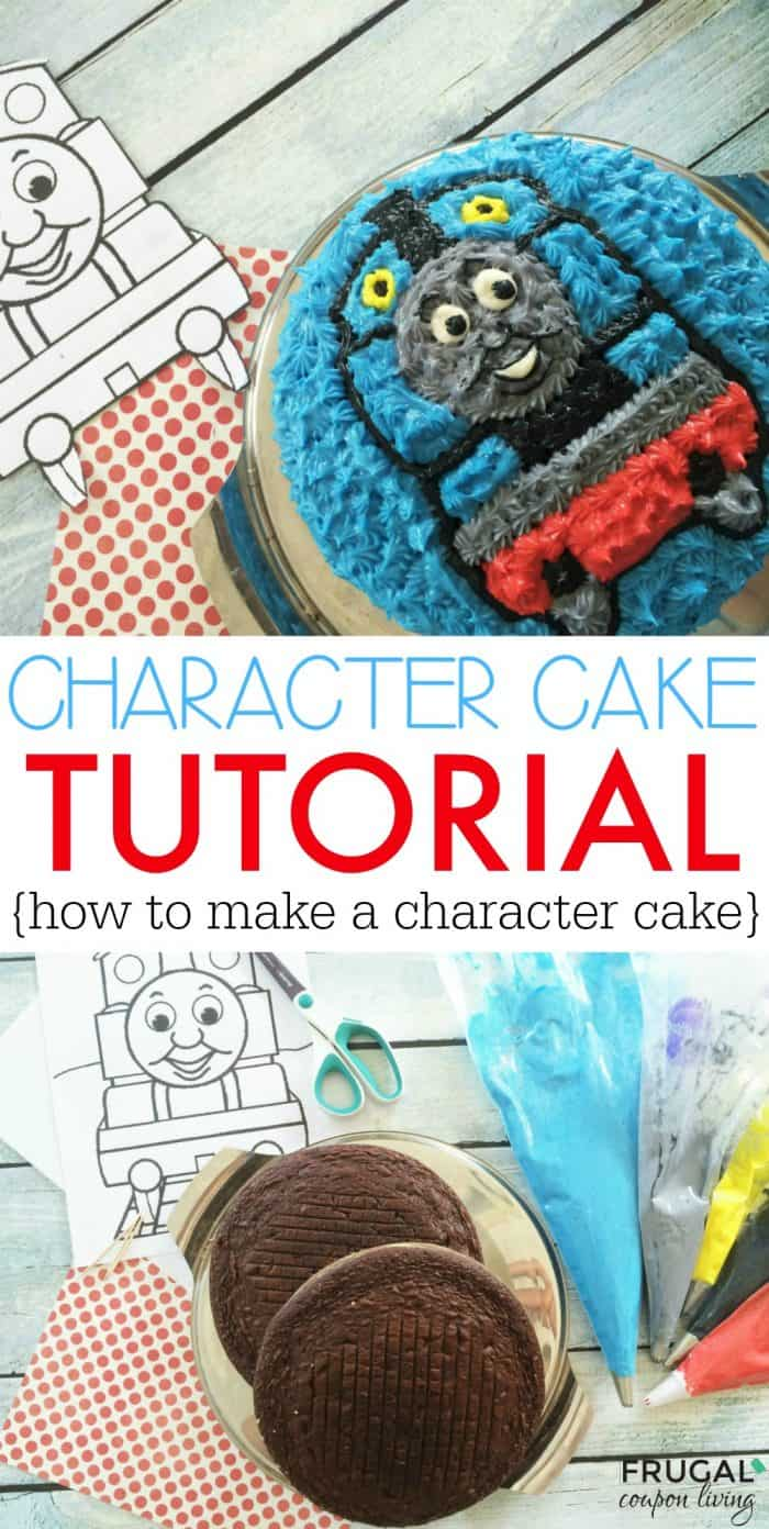 Character Cake Tutorial - Easy Thomas the Train Cake