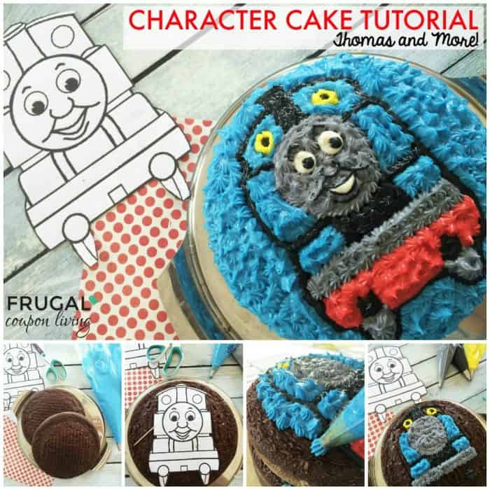 Step by Step Character Cake Tutorial - Thomas the Train