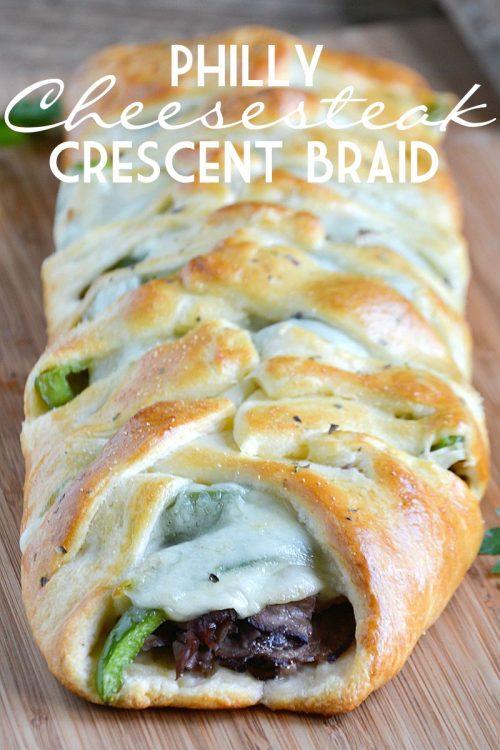 philly-cheesesteak-crescent-braid