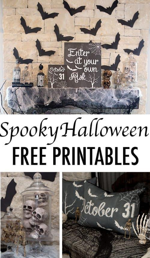 Chalkboard-Halloween-Mantle-printables
