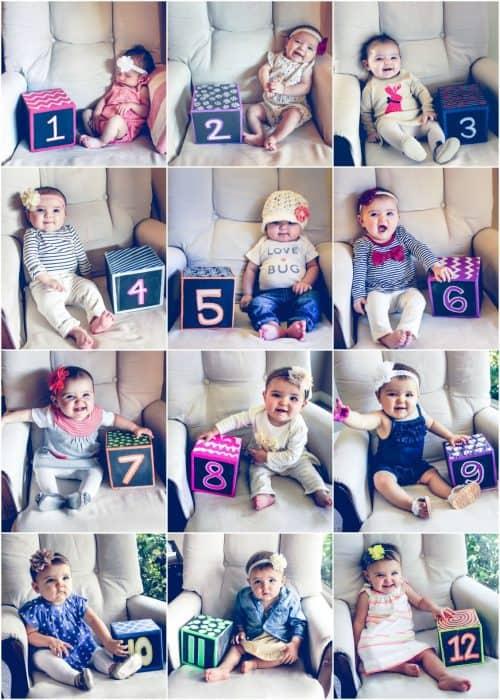 Ellie-12-months-number-cube