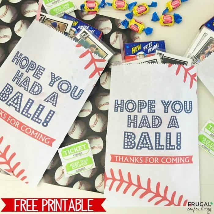 free baseball party favor printable