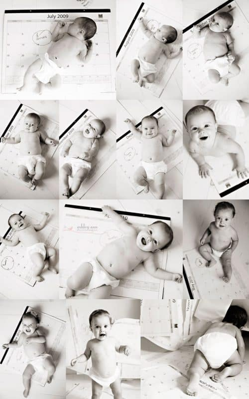 Calendar Photo Ideas For Each Month : Monthly baby photo ideas track your s age in photos