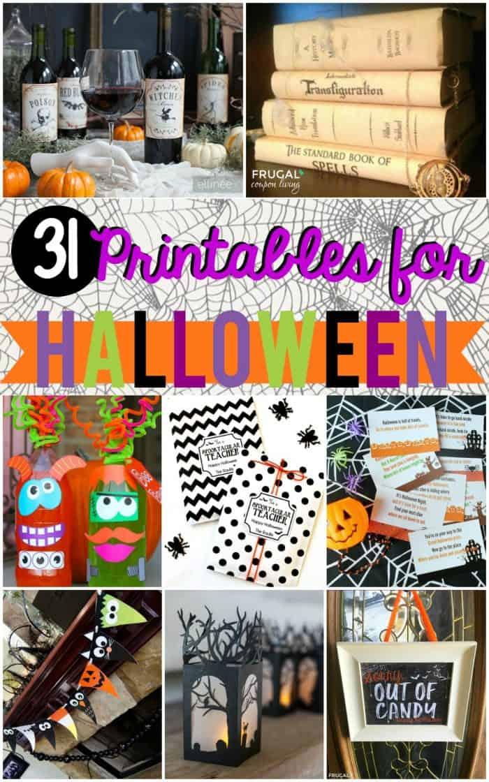 31+ creative Free Halloween Printables. Ideas for Halloween class parties, activities, gifts, decorations and more! #FrugalCouponLiving #halloween #freeprintables #printables #halloweenprintables #freehalloweenprintables #halloweendecor #halloweenpartyideas