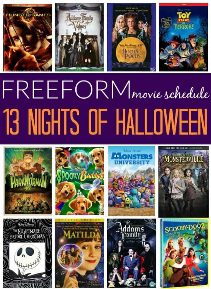 freeform 13 nights of halloween 2016 movie schedule - 13 Night Of Halloween