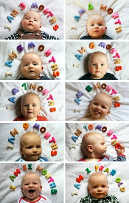 Monthly Baby Photo Ideas Track Your Babys Age In Photos