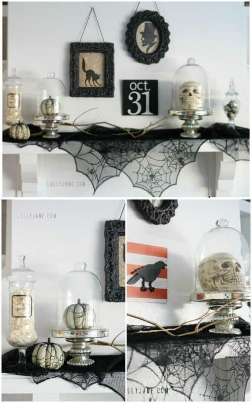 vintage-halloween-mantel