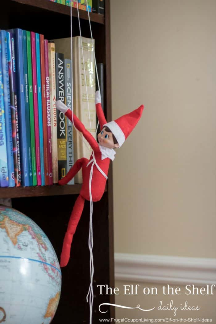 bookshelf-climbing-elf-on-the-shelf-ideas-frugal-coupon-living