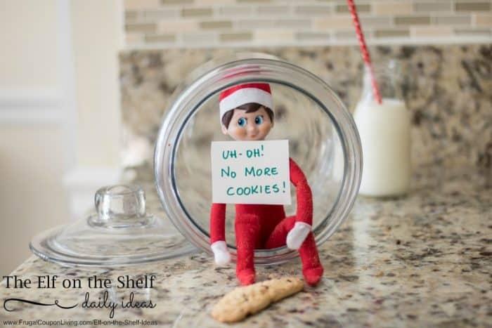 Elf On The Shelf Ideas Elf Ate The Cookies