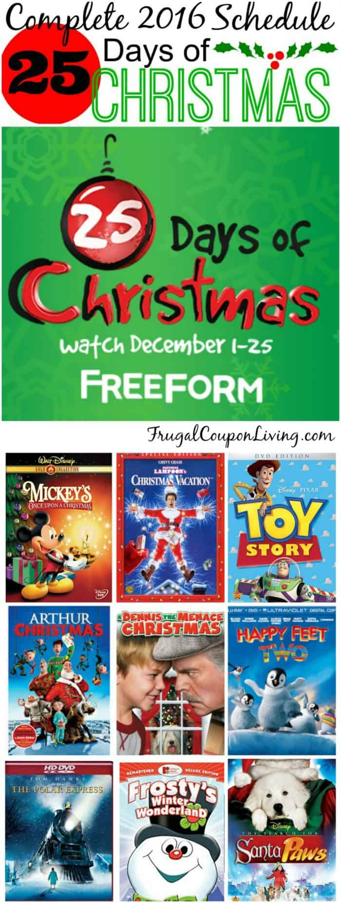 2016 freeform 25 days of christmas abc family - 25 Days Of Christmas Abc Family
