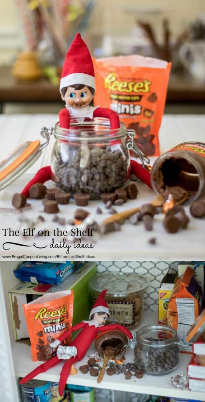 elf-chocolate-overdose-elf-on-the-shelf-ideas-frugal-coupon-living-collage