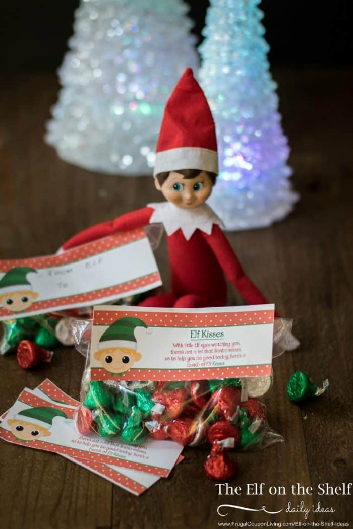 picture regarding Elf Printable Coupons named Elf upon the Shelf Designs Elf Kisses Printable Bag Topper