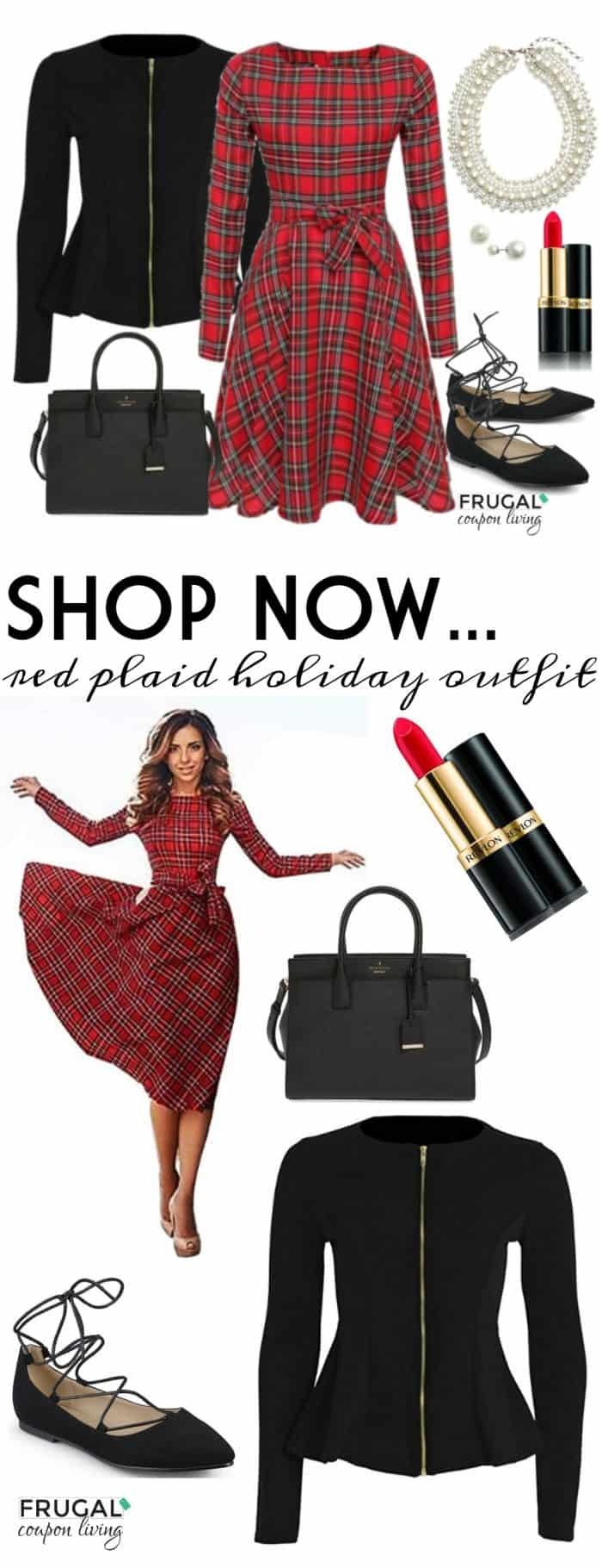 frugal-fashion-friday-red-plaid-holiday-outfit-frugal-coupon-living-long