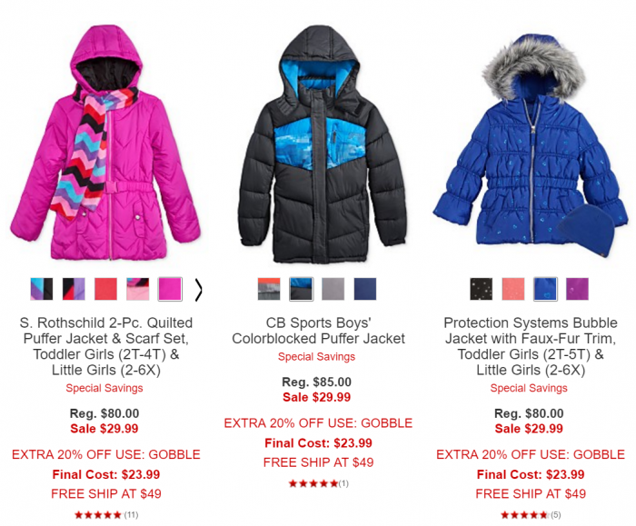 Kids Outerwear Sale Today At Macy S 50 Off Or More