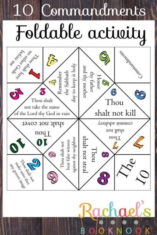 10-commandments-cootie-catcher
