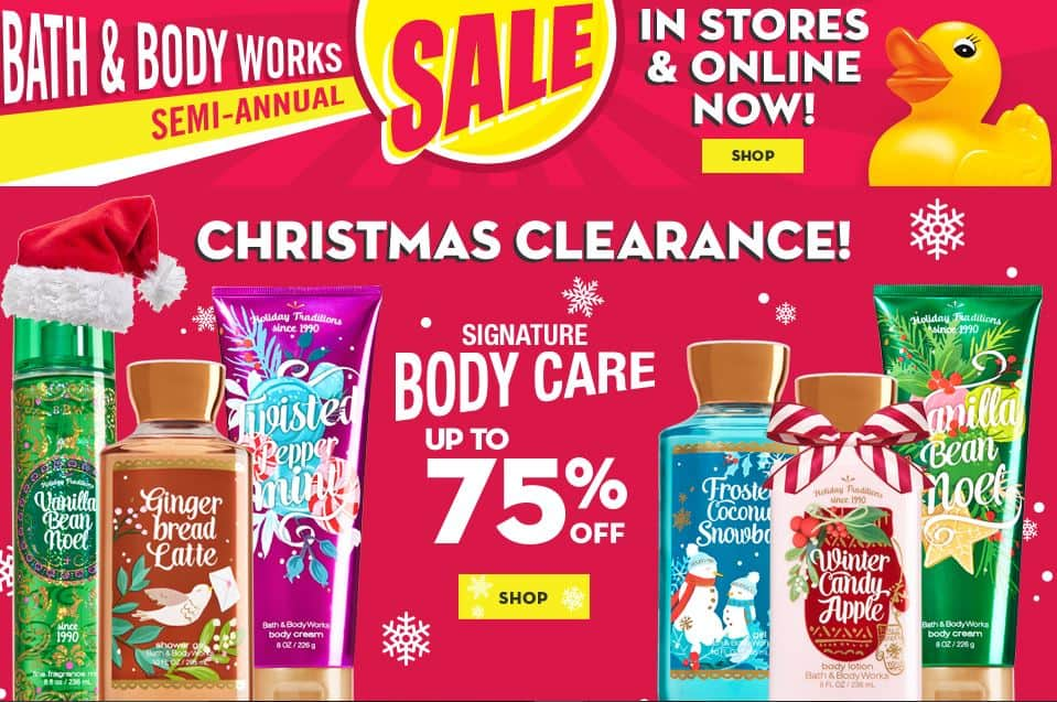 Bath and body works sale dates