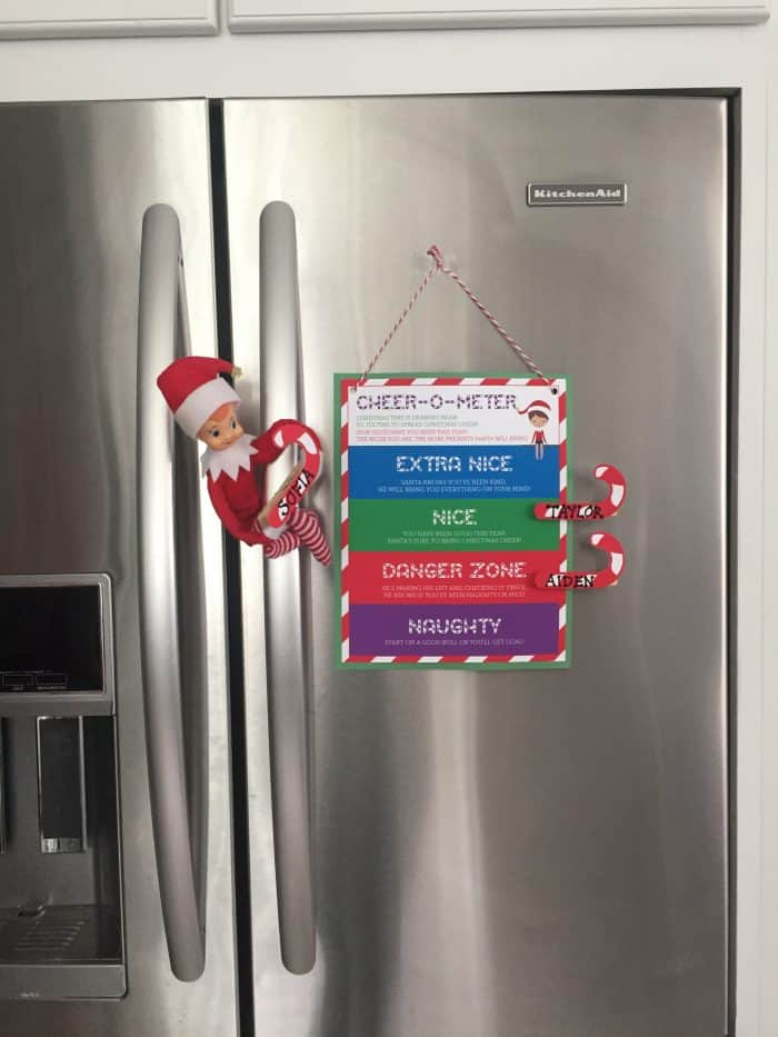 Free Elf On The Shelf Behavior Chart Printable