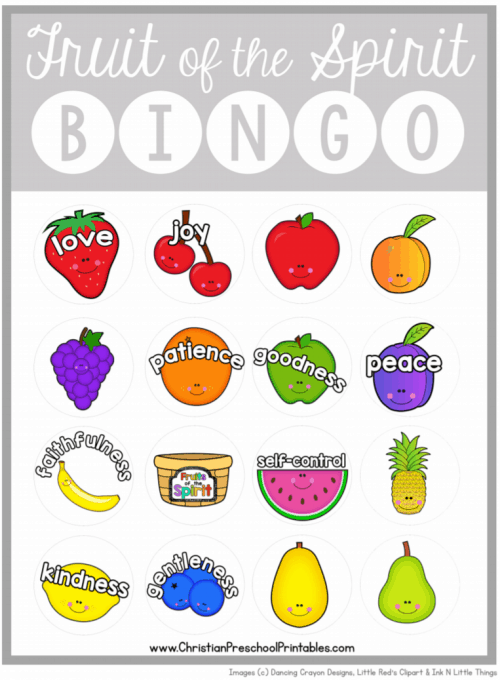 Fruits Of The Spirit Bingo