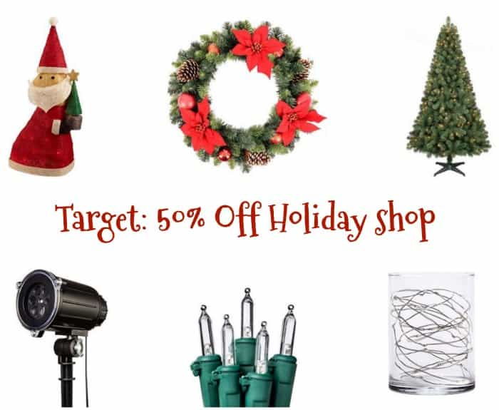 Target christmas shop clearance 50 off trees for Christmas sale items