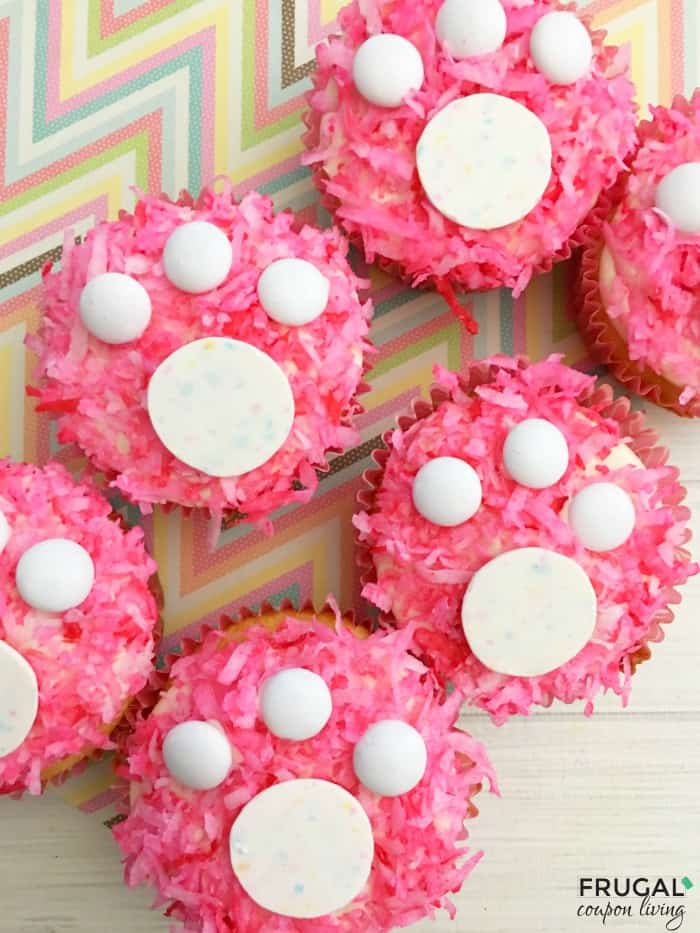 Easter Bunny Footprint Cupcakes