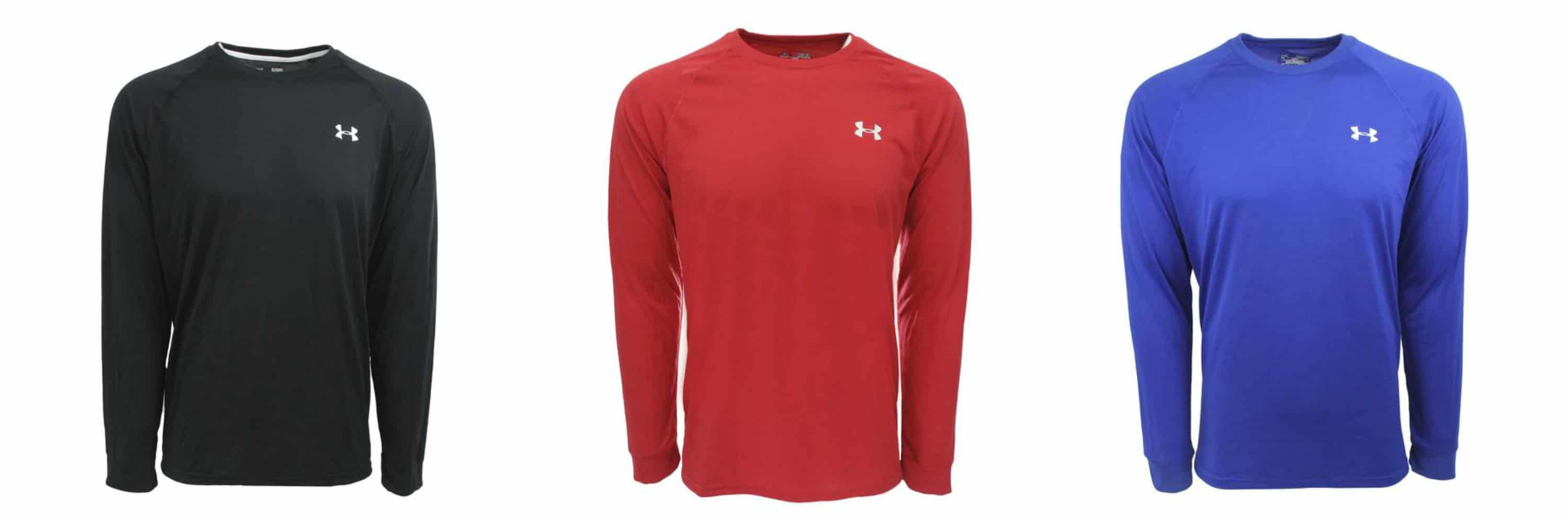 Men 39 s under armour long sleeved tees free shipping for Under armour shirts at walmart