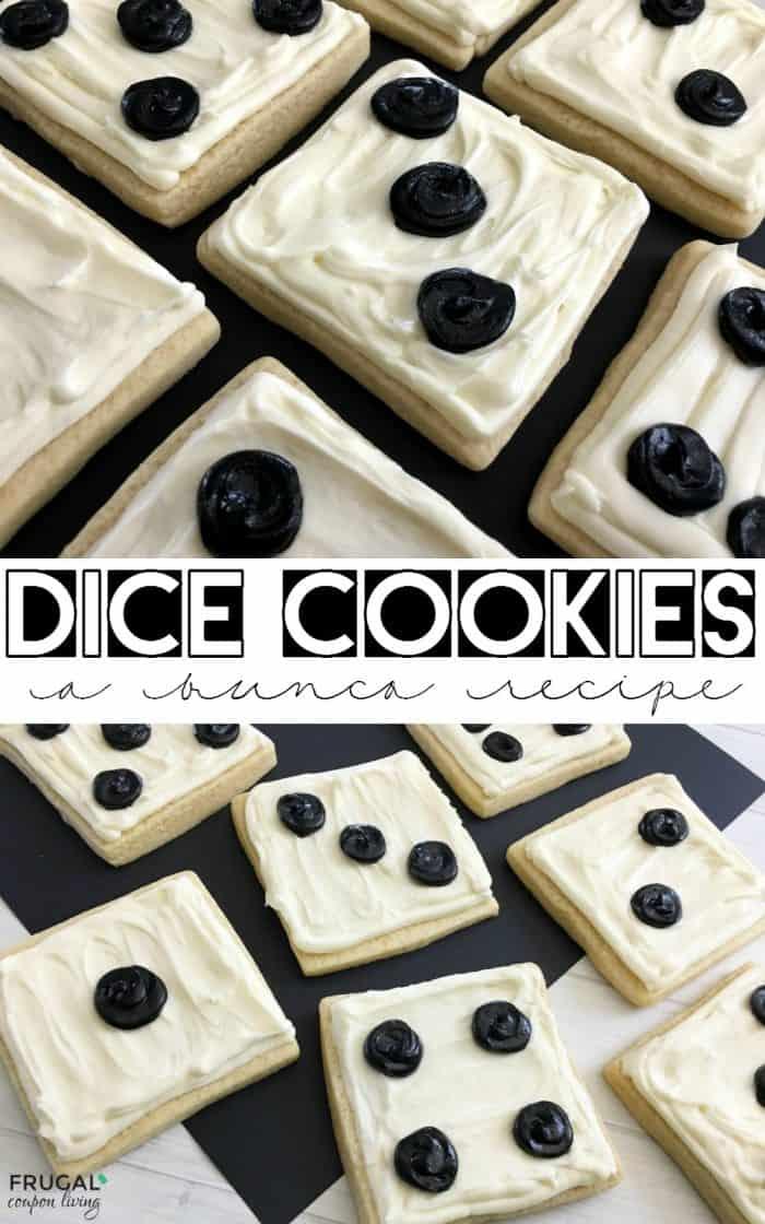 Bunco Recipe Idea Dice Cookies