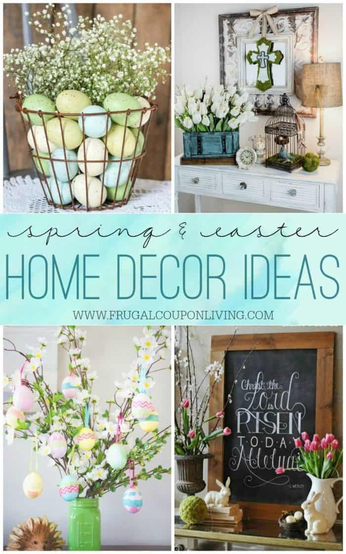 Spring easter home decor ideas for Home easter decorations