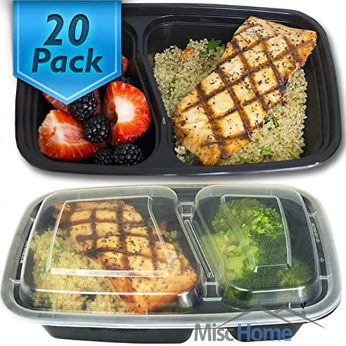 set of 20 meal prep containers
