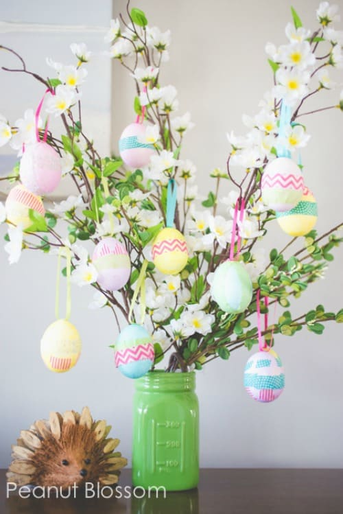 Spring easter home decor ideas - Easter egg tree decorations ...