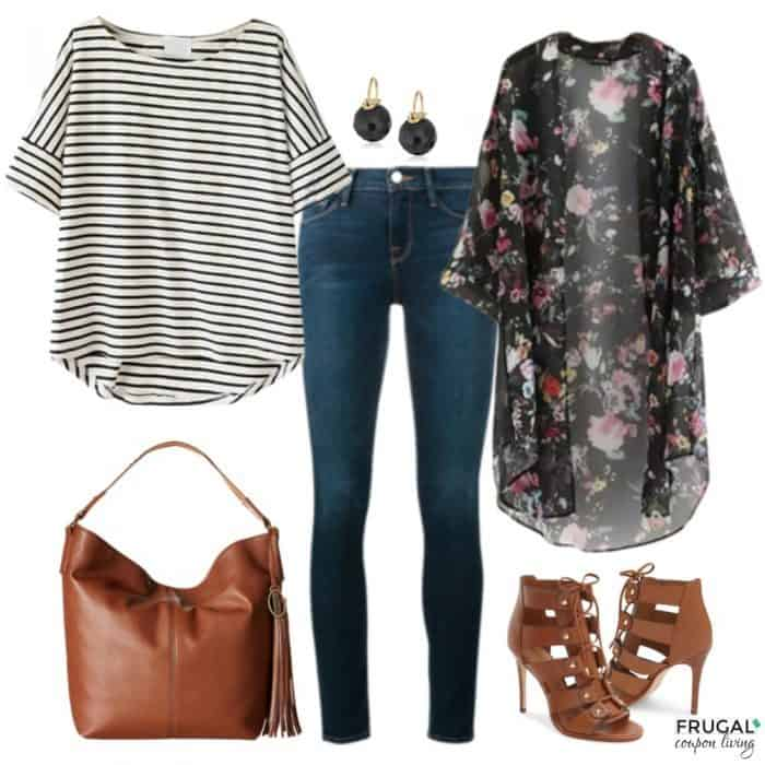 Frugal Fashion Friday Floral Kimono Outfit